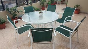 Mesa para terraza mas 4 sillas posot class for Vendo muebles terraza
