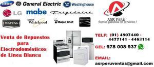 Venta de Repuestos para Electrodomésticos a Domicilio