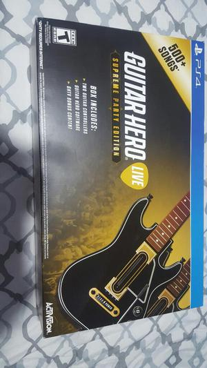 Pack Guitar Hero Ps4 2 Guitarras Juego