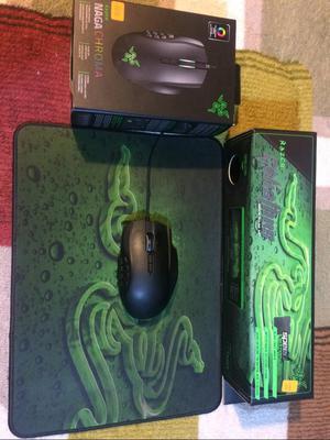 Vendo Mouse Razer Naga Chroma con Pad