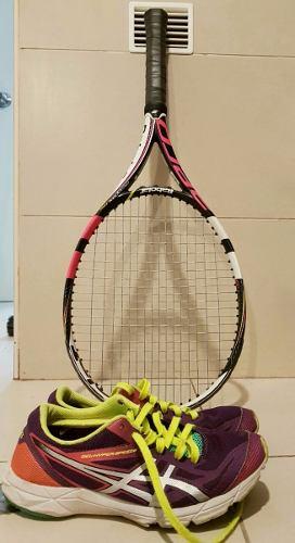 Raqueta De Tennis Babolat Y Zapatillas Asics