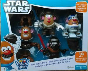Sr Cara de Papa Mr Potato Star Wars Pack X 4
