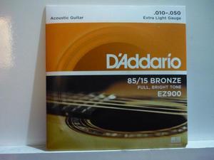 Cuerdas Daddario para guitarra acustica