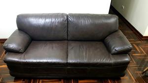 Sofa de Cuero Genuino Roberta Allen