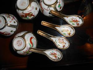 Soperas y Cucharas Porcelana China
