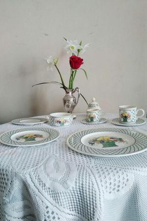 Vajilla de porcelana alemana