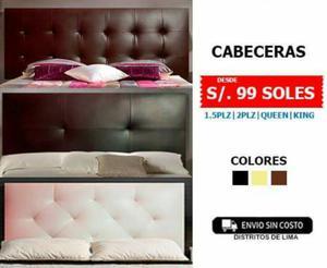 Oferta cabeceras de cama de melamina s posot class - Cabeceras de cama acolchadas ...