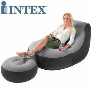 Sofa Puff Inflable De 2 Piezas
