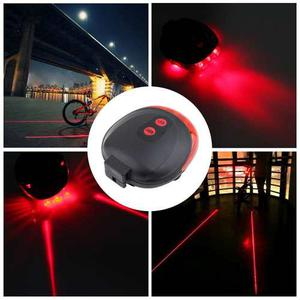 Luz Led Roja Laser Trasera Para Bicicletas