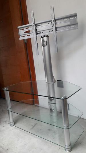 Mesa de Vidrio con Rack