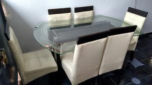 Mesa para jugueria con vidrio templado y 4 sillas posot for Sillas para jugueria