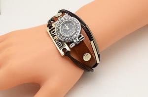 pulsera reloj vitage de cuero