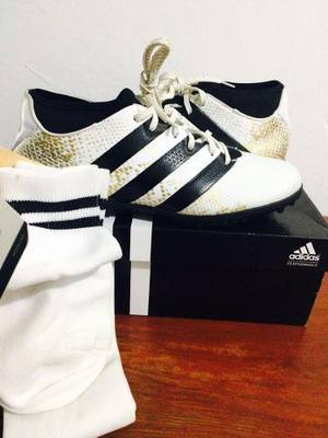 Zapatillas adidas Ace Talla Us 9 + Medias Fútbol