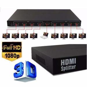 Splitter Hdmi 1 X 8 Salidas 3d 4k Ultra Hd p Ps3