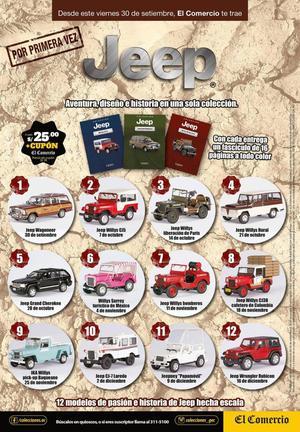 Vendo coleccion completa Jeep de el comercio