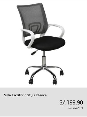 silla de escritorio style blanca