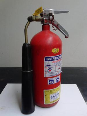 EXTINTOR DE DIOXIDO DE CARBONO CO2 5LBS. CERTIFICADO REMATO