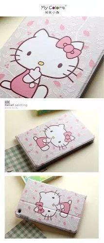 Ipad Air 2 - Case Funda Tacto Cuero Air2 - Hello Kitty