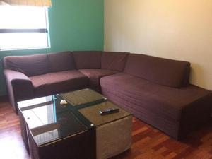 Juego de Mueble de Sala Sofa Seccional en forma de ele L