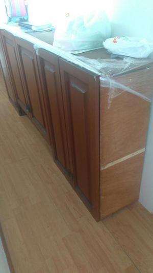 Mueble de cocina madera cedro alto y bajo remato posot class - Mueble botellero cocina ...