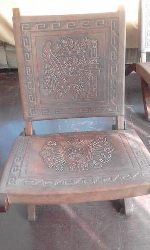 Vendo sillas de cuero repujado, calidad de exportación