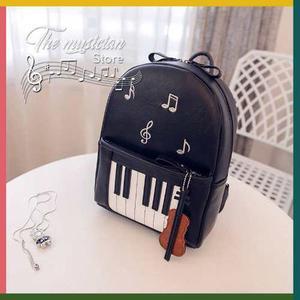 Mochila De Moda Estilo Musical Piano Y Violín