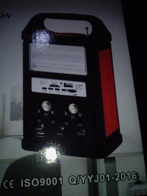 Sistema Iluminacion Solar Minero Con Fm Usb, Focos Portable