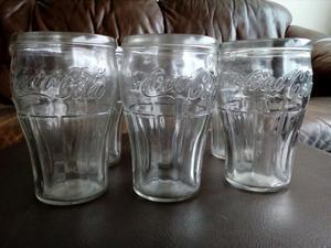 Juego de Vasos Coca Cola Antiguo Vintage