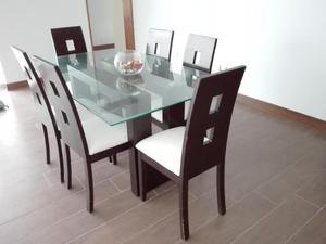 Moderno juego de comedor seis sillas posot class for Juego comedor moderno