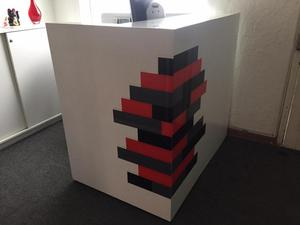 Counter de recepcion muebles de oficina en posot class for Mueble recepcion oficina
