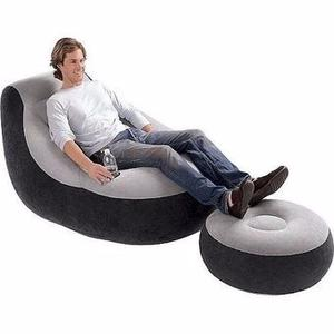 Sillon Puff Inflable Ultra Lounge Intex +posa Pies+posa Vaso