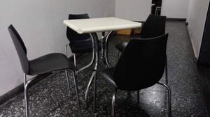 mesas y sillas para restaurante polipropileno