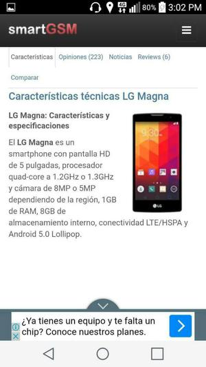 Vendo Mi Lg Magna Lte