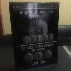 ALBUM DE COLECCION DE MONEDAS PERUANAS SERIE NUMISMATICA