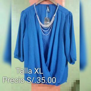 Bluson de Mujer Color Azul Talla M