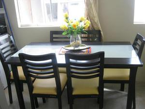 Juego de comedor color negro de 6 sillas2 posot class for Juego de 6 sillas para comedor