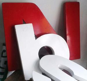 letras alto relieve en mdf para nidos