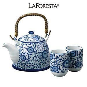 Tetera Porcelana Dynasty Blue Con 6 Tazas - La Foresta