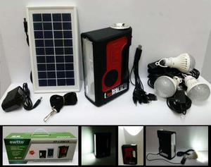 Panel Solar Portátil 3 Focos Led Linterna Bateria Reprod