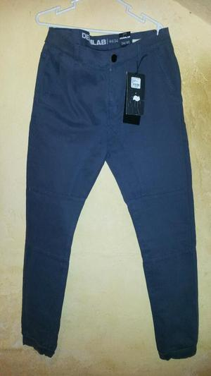 Pantalon Joger Denimlab Nuevo Talla 34