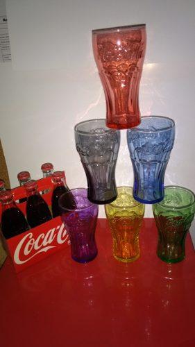 Vasos Coca Cola De Colección 6 Colores Logo En Alto Relieve