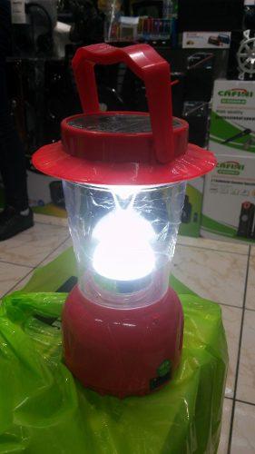 Lampara Portatil Linterna Solar Y Recargable Luz Led Oferta