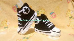 Zapatillas Tipo Converse Tejidas a Croch