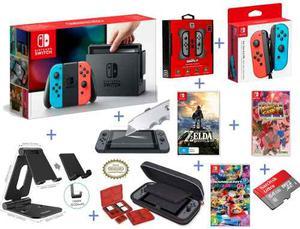 Super Pack- Nintendo Switch (todo Lo Que Necesitas) + Extras