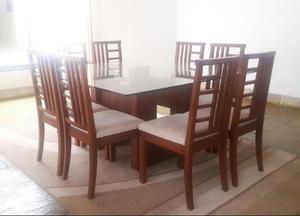 Comedor cuadrado 8 sillas ubicaci n lima posot class for Comedor 8 sillas usado