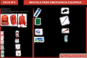 MOCHILA DE EMERGENCIA Con DELIVERY