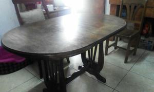Mesa de madera y vidrio spingo ovalada posot class for Muebles baratos remate
