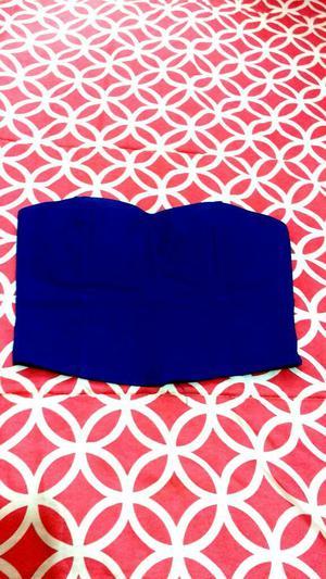 Top de Color Azul Talla Small
