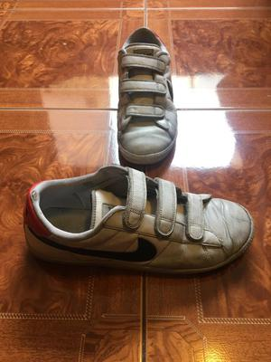 Zapatillas nike cuero con pega pega | Posot Class