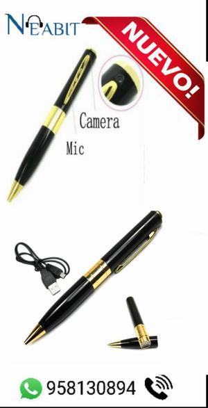 Lapicero Espía con Cámara y Microfono Oculto